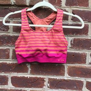 C9 Champion Orange and Pink Striped Sports Bra
